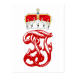 Monograma imperial de duque Francisco Fernando del Tarjeta Postal