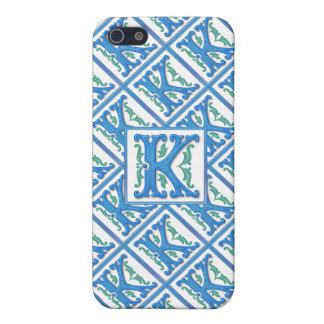 Monograma inicial de K - femenino y elegante iPhone 5 Funda