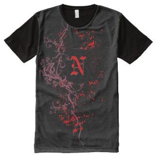 Monograma inicial de la letra N