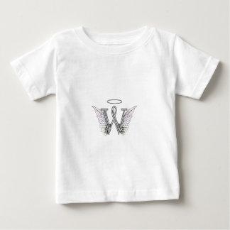 Monograma inicial de la letra W con las alas y Playeras