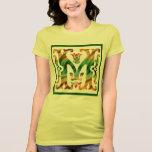 Monograma inicial M del m del vintage Camiseta