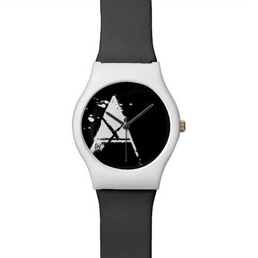monograma inicial reloj de mano