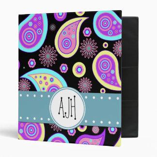 """Monograma - iraní oriental Paisley - púrpura azul Carpeta 1"""""""