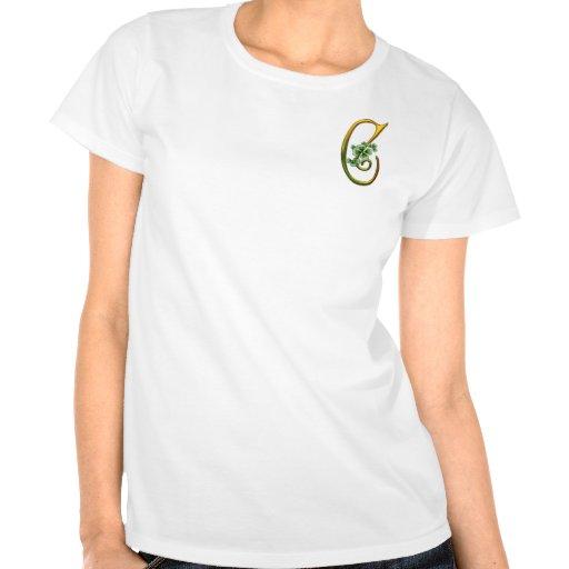Monograma irlandés C del oro Camiseta