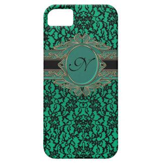 Monograma irlandés verde del personalizado del iPhone 5 carcasas