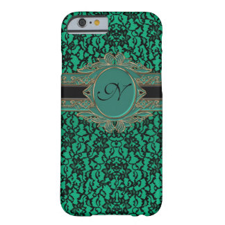 Monograma irlandés verde del personalizado del funda de iPhone 6 barely there