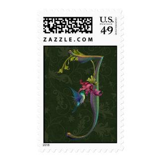 Monograma J del colibrí Sellos