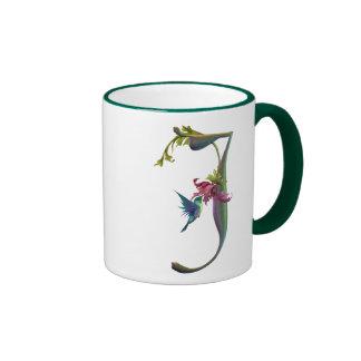 Monograma J del colibrí Taza A Dos Colores