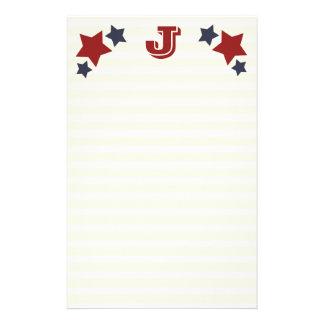 Monograma J/efectos de escritorio iniciales de las Papelería De Diseño