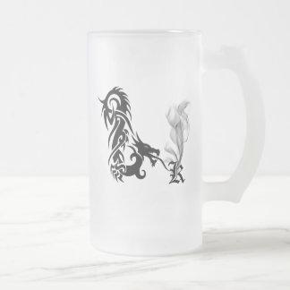Monograma K del dragón Tazas De Café