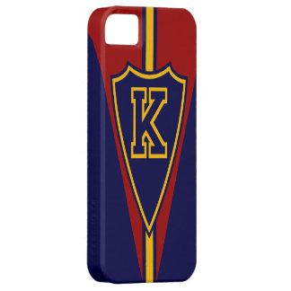 Monograma K del estilo de los deportes iPhone 5 Carcasas