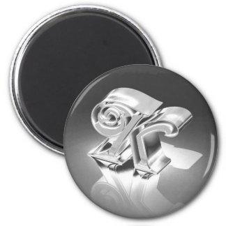 Monograma K Imán Redondo 5 Cm