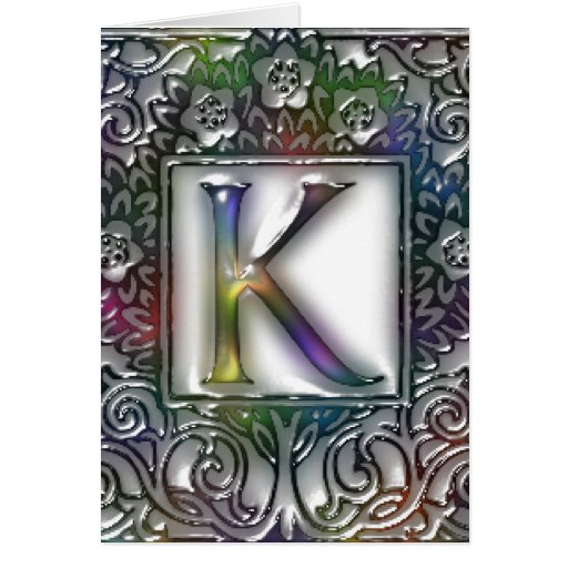 Monograma K Tarjeta De Felicitación