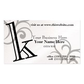 Monograma k tarjetas de visita