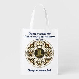 Monograma L bolso de compras reutilizable Bolsa Reutilizable