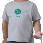 Monograma L camiseta del cielo y de la cal