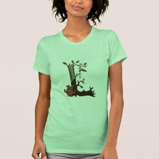 Monograma L del árbol del otoño Camiseta