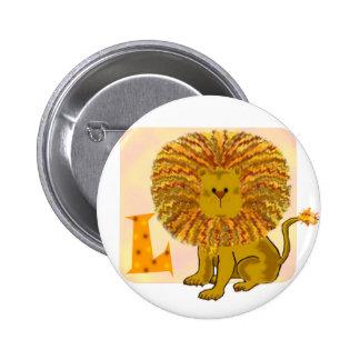 Monograma L del león Pin