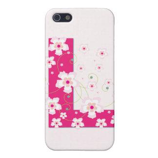 Monograma L inicial caso floral bonito del iphone  iPhone 5 Carcasa