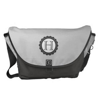 Monograma, la bolsa de mensajero gris bolsas de mensajería