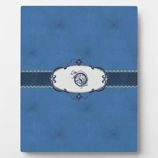 Monograma-Letra azul O de Rothenburg Placa De Plastico