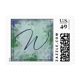 Monograma - letra W Timbre Postal