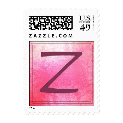 Monograma - letra Z Franqueo