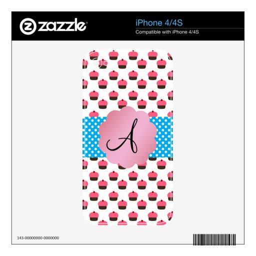 Monograma lindo de la magdalena calcomanías para iPhone 4S
