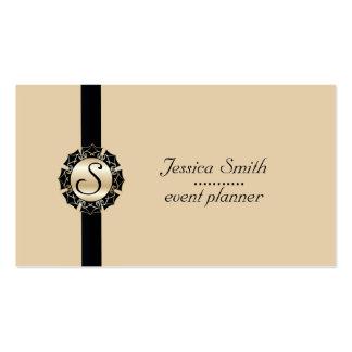 Monograma llano moderno elegante profesional tarjetas de visita