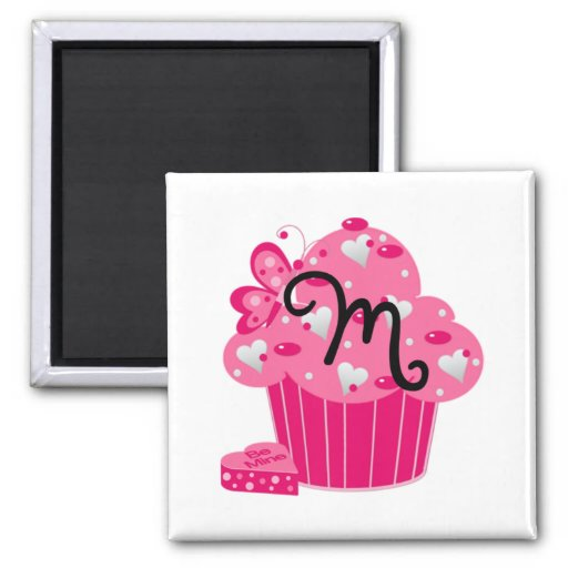 Monograma M de la magdalena de la tarjeta del día  Iman Para Frigorífico