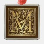 Monograma M del vintage Ornamento Para Reyes Magos