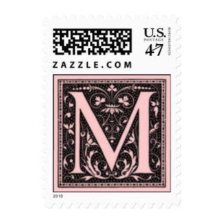 """Monograma """"M """" del vintage Sellos Postales"""