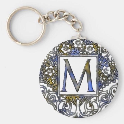 Monograma M Llaveros Personalizados