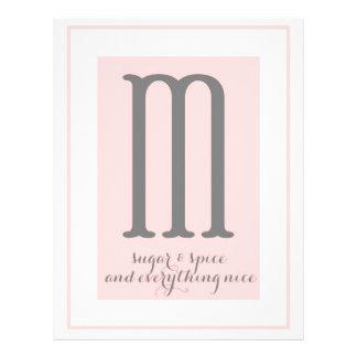 Monograma - M Membrete A Diseño