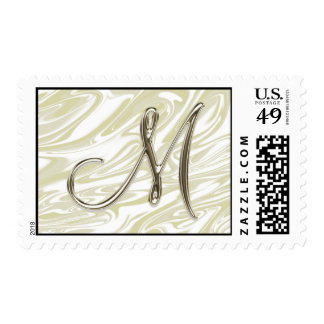 "Monograma M ""plata antigua"" Envio"