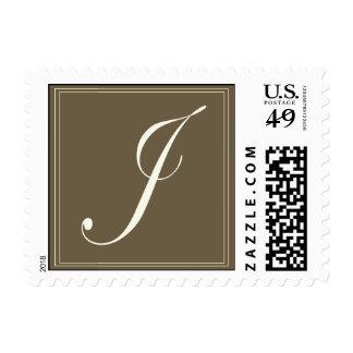 Monograma marrón - J inicial Franqueo