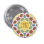 Monograma marroquí Alhambra. Mosaico de azulejos Pin