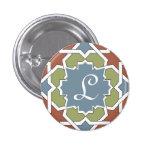 Monograma marroquí Alhambra. Mosaico de azulejos Pins