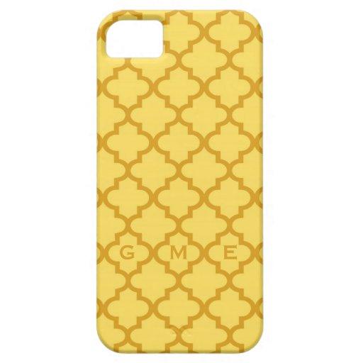 Monograma marroquí del diseño 3 de la teja del ama iPhone 5 Case-Mate cárcasa