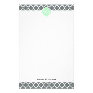 Monograma marroquí del nombre de la menta #5 del papeleria