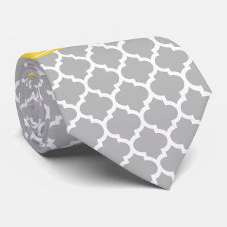 Monograma marroquí del nombre de la piña #5 del corbatas personalizadas