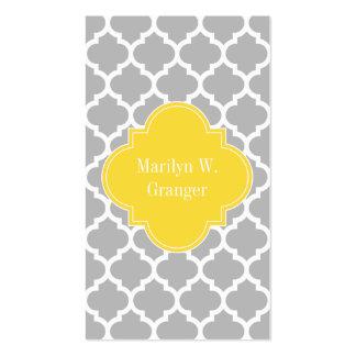 Monograma marroquí del nombre de la piña #5 del tarjetas de visita