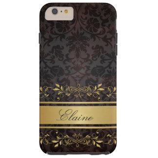 Monograma más del personalizado del caso del funda para iPhone 6 plus tough