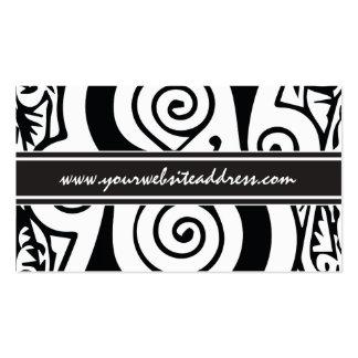 Monograma medieval blanco y negro elegante S Tarjetas De Visita