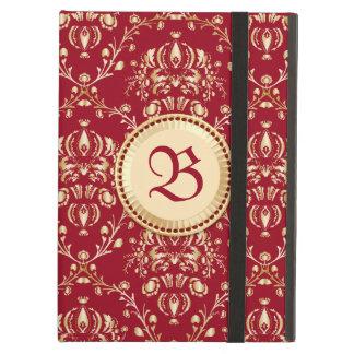 Monograma medieval magnífico del rojo del carmín d