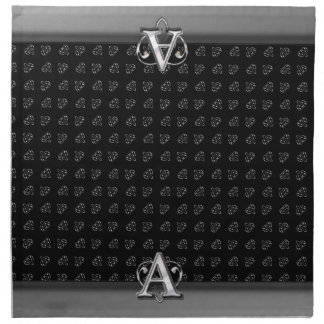 Monograma metálico moderno (a) servilleta imprimida