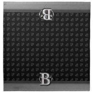 Monograma metálico moderno (b) servilletas