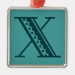 Monograma mexicano X de la letra del estilo del ar Ornamentos De Reyes Magos