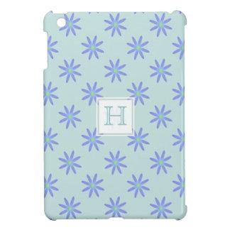 Monograma: Mini caso del iPad púrpura de la margar