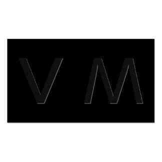 Monograma moderno 2 de la sombra tarjeta de visita